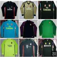 Wholesale _ GOALKEEPER soccer jersey CECH NEUER BUFFON CECH OSPINA DE GEA COURTOIS GK soccer uniforms long sleeve football cloth