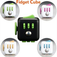Wholesale 11 color New Fidget cube the world s first American original decompression anxiety Toys E1674