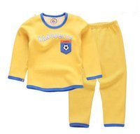 Spring / Autumn baby football outfits - 2Pcs Outfits Kids Baby Boys Clothes Long Sleeve football boys Tops Long Pants Clothing Sets Y Colors