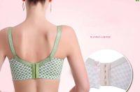Wholesale Pregnant women nursing bra anti sagging pregnant lactating green lace underwear Modal material type adjustable nursing bra