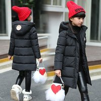 Wholesale Children with big boys and girls winter coat jacket new Korean in the long section of thick jacket in cotton
