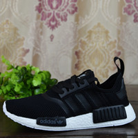 Flat classic sneakers - 2017 Adidas Originals NMD Runner R1 Primeknit White OG Triple Black Nice Kicks Men Women Running Shoes Sneakers Classic With Box