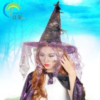 activity wizard - Halloween spider wizard hat dance party activities play a sorcerer witch dress up props supplies Christmas RPG