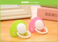 Silicone as pic Single loaded Wholesale-Hot Infant Pacifier Holder Clip Baby Pacifiers Nipples For Children Pacify 0-3 Years Old Newborn Cute Pacifiers Free China Post