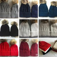 Cheap Boy Mom And Baby Hats Best Spring / Autumn Crochet Hats Kids Knitted Hats