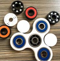 Wholesale New HandSpinner Fingertips Spiral Fingers Gyro Torqbar Brass Ceramic Bearings Acrylic Hand Spinner Tri Spinner CCA5488
