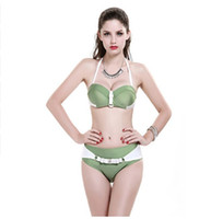 Wholesale 2016 Sexy Bikinis Women Swimsuit Swimwear Solid Brazillian Bikini Set Bathing Suit Summer Beach Wear