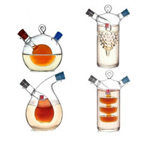 Wholesale Creative Kitchen Oil and vinegar bottles sauce glass jar sealed multifunction seasoning glass storage bottle wine bottle for bar