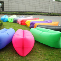 bean bags outdoor - Lounge Sleep Bag Lazy Inflatable Beanbag Sofa Chair Living Room Bean Bag Cushion Outdoor Self Inflated Beanbag Furniture DHL free