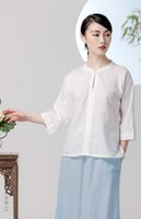 Wholesale Pretty loose style improvement Chinese style ladiy clothing three colors blue grey and green good quality