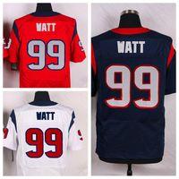Wholesale Mens JJ Watt Jadeveon Clowney Brock Osweiler Elite White Blue Redl Jersey Playoff Football Jerseys Stitched Name and Number