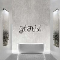 bath wall decal - New Product For Get Naked Fancy Words Bath Vinyl Removable Decal Bathroom Wall Lettering Personality Stickers Diy Decor