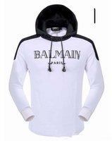 Wholesale New streetwear Brand designer balmain Sweatshirt Men Hoodies Fashion Solid Fleece Hoodie Mens Sports Suit Pullover Mens Tracksuits
