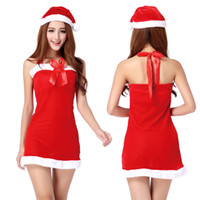 Wholesale 2016 new arrival pretty Christmas Xmas Outfits Girls Christmas santa claus Role play Costume Cartoon Cosplay Clothes