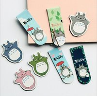 Wholesale A43 Set Kawaii Cute Magnetic My Neighbor Totoro Bookmarks Books Marker of Page Stationery Office Supplies