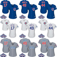 Wholesale Womens Chicago Cubs jerseys World Series Champions baseball jerseys ARRIETA RIZZO BRYANT BAEZ SCHWARBER ROSS