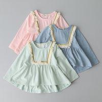 batik lot - Cute Baby Girls Tassel Ruffles Tees Sweet Kids Girl Cotton Candy Color T shirts Children Tops