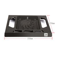 Wholesale Radiator USB Laptop Cooler Notebook Cooler Have Big LED Light Fan usb laptop cooler