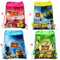 anna shopping bags - New Frozen drawstring bags Anna Elsa Despicable Me backpacks handbags children s school bags kids shopping bags present