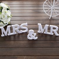 Wholesale New Product Set Solid Mr Mrs Wooden Letters For Wedding Decoration Sign Top Table Present Decoration