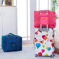 Wholesale Folding jacquard luggage high capacity receive bag to receive bag