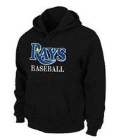 Wholesale Excellent Quality Tampa Bay Rays Baseball Hoodies Big Tall Logo Pullover Sweatshirt Hoody
