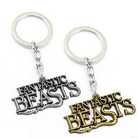 beast boy figure - Fantastic Beasts and Where to Find Letter Keychain Key Chains Key Ring for Women Men Chritsmas Gift Harry Potter DHL