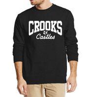 achat en gros de sweatshirts des cultures de gros-Vente en gros-vêtements de marque Crooks et châteaux 2016 nouvelle mode automne hiver hommes sweatshirt hoodie streetwear survêtement top top de la culture