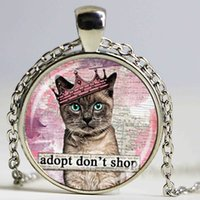 adoption jewelry - fashion jewelry cat necklace pet adoption amimel pendant necklace animal for men women