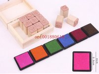 Wholesale Fedex Factory price Colorful Craft Ink pad Cartoon Ink pad for different kinds of stamps