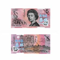 australian crafts - 100PCS Australian AUD5 Training Banknotes Bank Staff Learning Banknotes Commemorative Arts Christmas Gifts Arts Craft for Home