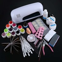 Wholesale New Arrival Professional W White Cure Lamp Dryer UV Gel Nail Art Tools Full Set