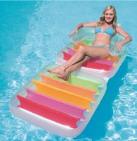 Wholesale New Outdoor Furniture cm Inflatable Water Floats Lounge Floating Foldable Swimming Bed Relax Water Floating Bed Chair
