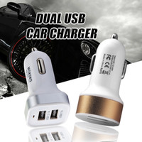 Wholesale Colorful Port Dual USB Car Charger Adapter A Bullet Car Charger with metal protective for iphone Samsung Galaxy s5 s6 s7