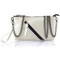 ans waxes - Hot Selling Women Clutch Bag Oil Wax Genuine Cow Leather Woman Messenger Shoulder Bags With Chain ANS SL