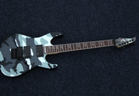 Wholesale SHIJIE electric guitar Black Pearl FR CAMO series Meisai pattern body EMG pickups electric guitar