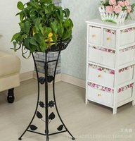 Wholesale European style thick iron frame multi storey living room floor balcony folding flower racks green flower shelf special