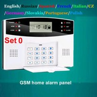 Wholesale Home GSM Alarm System Security Alarm System With English Russian Spanish France Czech Polish Language