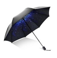 Wholesale Raindrop Folding Windproof Reverse Folding Double Layer Inverted Chuva Umbrella Self Stand Inside Out Rain Protection C Hook Hands For Car