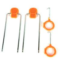 Wholesale 12Pc Set Universal Car Nylon Panel Audio Stereo Damage prevention Install Pry Tools Orange red