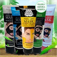 Wholesale Peel Off Gold Collagen Facial Mask Whitening Anti Wrinkles Face Mask Crystal Gold Powder Collagen Facial Mask Skin Care Products ML