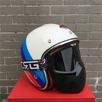 Wholesale 2017 Casco para moto france Ruby fiberglass helmet open face vintage scooter for harley motorcycle Casque casco capacete