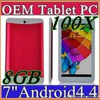 100X DHL 7 pouces 3G Phablet Android 4.4 MTK6572 Dual Core 8 Go 512 Mo Dual SIM GPS Téléphone Appel WIFI Tablet PC Bluetooth B-7PB
