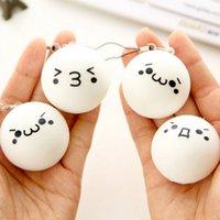 Cheap New Kawaii Expression Bun Cute Face Squishy Bread Key chain Bag Phone Charm Strap Fun Toys