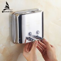 Wholesale And Retail Promotion Brush Nickel Soap Dishpenser Square Bathroom Kitchen Soap Dispenser ml WF