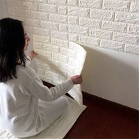 Wholesale D Brick Pattern Wallpaper self adhesive wallpaper Bedroom Living Room Modern Wall Background TV waterproof WH0086
