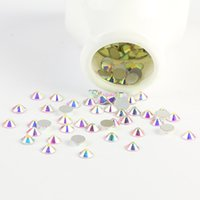 Wholesale Sale Super Shiny ss3 ss40 Bag Clear Crystal AB Color D Non HotFix Nail Art Round Faceted Glass Flatback Rhinestones Glitters Acrylic Tips