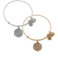 antique gold filled bangle bracelet - new style Alex and Ani Anna Elsa Bangle Frozen Antique gold and silver popular Pure copper bracelet