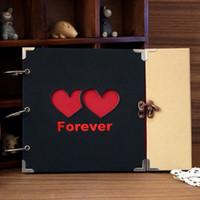 Wholesale DIY Photo Album Wedding Photos Children Family Memory Record paper Handmade Sticky Type Scrapbooking photo Album