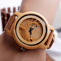antler table - men and women wooden watch gift boutique antlers pattern leather strap wood table wood watch dial bamboo shell table